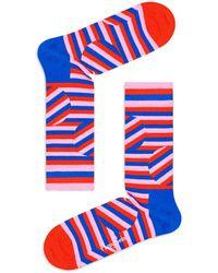 Happy Socks Jumbo Dot Striped Socks - Blue