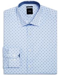 W.r.k. - Micro Dot And Open Square Slim Fit Dress Shirt - Lyst