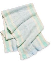 Free People Brushed Racer Stripe Blanket Scarf - Blue