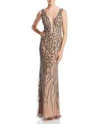 Adrianna Papell - Embellished Illusion Gown - Lyst