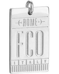 Jet Set Candy Fco Rome Luggage Tag Charm - Metallic