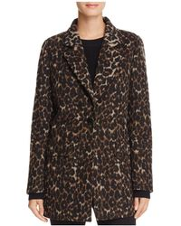 T Tahari - Kendall Leopard Print Coat - Lyst