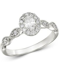 Bloomingdale's - Oval Diamond Engagement Ring In 14k White Gold - Lyst