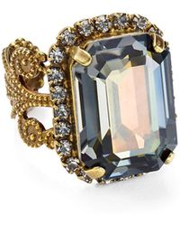 Sorrelli - Swarovski Crystal Cocktail Ring - Lyst