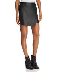 Aqua - Faux Leather Envelope Skirt - Lyst