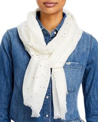 Fraas Solid Sparkle Wool & Cashmere Wrap Scarf - Blue