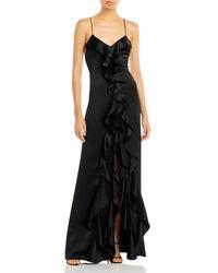 Alice + Olivia Mayer Ruffled Gown - Black