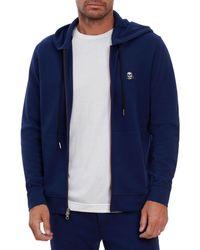 Robert Graham Skull Classic Fit Zip Front Hoodie - Blue