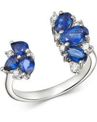 Bloomingdale's Blue Sapphire & Diamond Ring In 14k White Gold