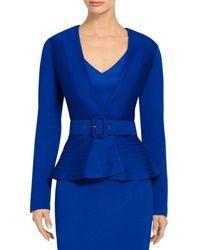 St. John - Milano Knit Belted Jacket - Lyst