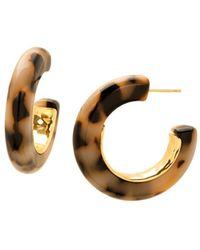 Gorjana - Irina State Lucite Hoop Earrings - Lyst
