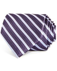 Bloomingdale's - Textured Stripe Silk Classic Tie - Lyst