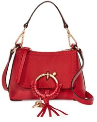 See By Chloé Joan Mini Leather Hobo - Red