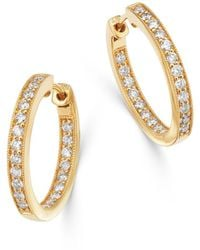 Bloomingdale's Diamond Inside - Out Hoop Earrings In 14k Yellow Gold - Metallic