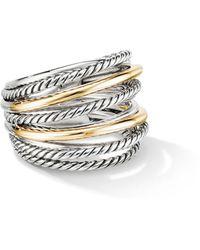 David Yurman Crossover Wide Ring With 18k Gold - Metallic