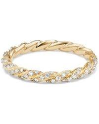 David Yurman | Paveflex Ring With Diamonds In 18k Gold | Lyst