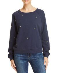 Honey Punch - Embroidered Star Sweatshirt - Lyst