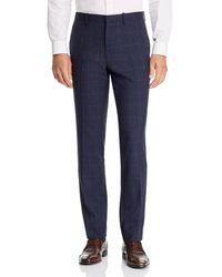 Theory Mayer Tonal Plaid Slim Fit Suit Trousers - Blue