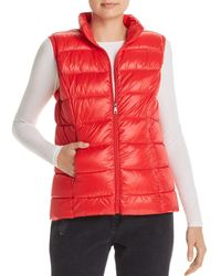 Aqua Packable Puffer Vest - Red
