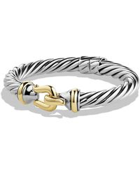 David Yurman - Buckle Cable Bracelet With Gold - Lyst