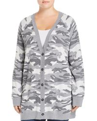 Lucky Brand - Button Front Camo Cardigan - Lyst