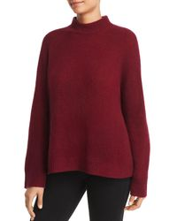 C By Bloomingdale's Mock - Neck Cashmere Sweater - Red
