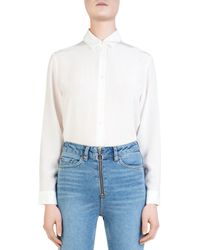 The Kooples - Wild Roses Button-down Bodysuit - Lyst