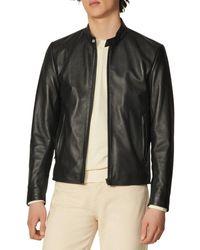 Sandro Leather Biker Jacket - Black
