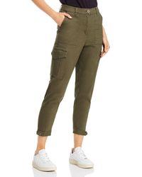 Aqua Ankle Cargo Trousers - Green