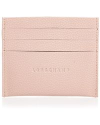 Longchamp Le Foulonné Slim Leather Card Holder - Pink
