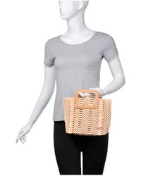 Urban Expressions Del Mar Wooden Bead Tote (50% Off) - Comparable Value $80 - Natural