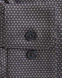 John Varvatos Geo Pattern Jersey Slim Fit Dress Shirt - Multicolour