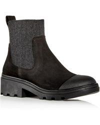 Eileen Fisher - Women's Teddy Cap-toe Block-heel Booties - Lyst