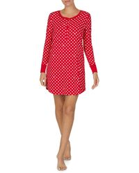 Kate Spade Long Sleeve Printed Sleepshirt - Red