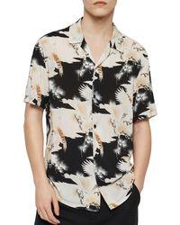 AllSaints - Talon Slim Fit Short - Sleeve Shirt - Lyst