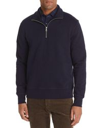 Bloomingdale's Half - Zip Fleece Sweatshirt - Blue
