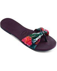 Havaianas - Women's You Saint Tropez Thong Sandals - Lyst
