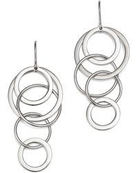 Bloomingdale's - Sterling Silver Cascading Circle Drop Earrings - Lyst