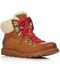 Sorel Women's Ainsley Round Toe Leather Hiking Boots - Multicolor