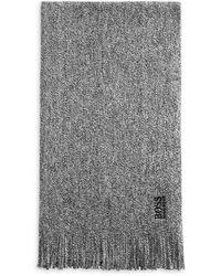 BOSS by HUGO BOSS Albas - N Wool Scarf - Grey