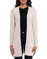 B Collection By Bobeau Open Front Cardigan - Multicolour