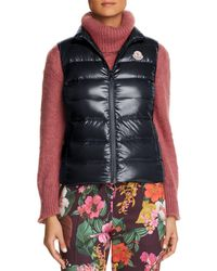 1199d4c18 Moncler Ghany Shiny Quilted Puffer Vest in Red - Lyst