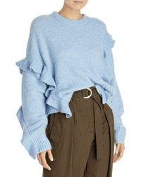 3.1 Phillip Lim Lofty Ruffle Sweater - Blue