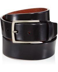 Trafalgar Men's Enrico Leather Belt - Black