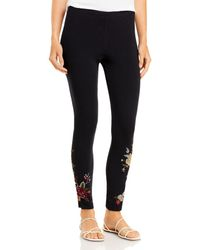 Johnny Was Pina Embroidered Leggings - Black