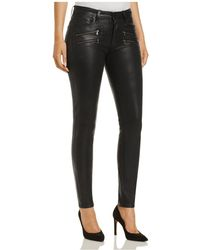 PAIGE - Edgemont Coated Skinny Jeans In Black Fog - Lyst