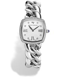 David Yurman Albion 27Mm Stainless Steel Quartz Watch With Diamonds - Metallic