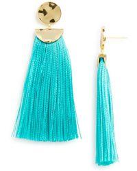Gorjana - Havana Circle Tassel Earrings - Lyst