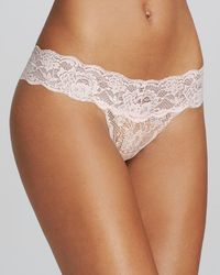 Cosabella Never Say Never Cutie Low - Rise Thong - Pink