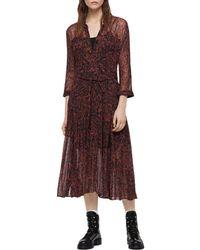 AllSaints - Eley Rosey Floral Print Shirt Dress - Lyst